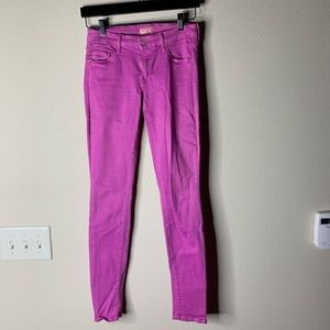 Mother high rise skinny jeans pink size 27